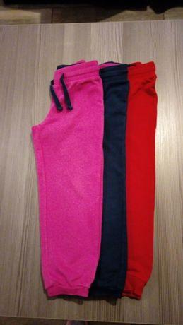 spodnie dresowe x3 roz.116