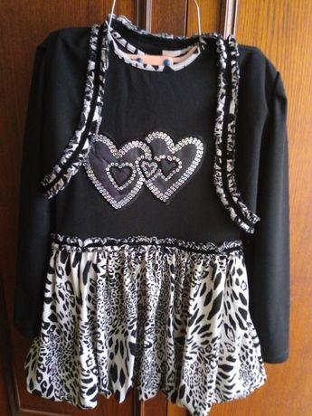 Платье с болеро на 6-7 лет