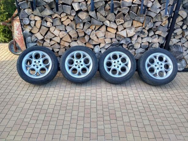 """Koła Felgi Alfa Romeo 5x98 16"""" Opony Dunlop"""