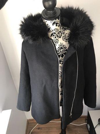 NOWY czarny płaszcz Reserved rozm 40 L