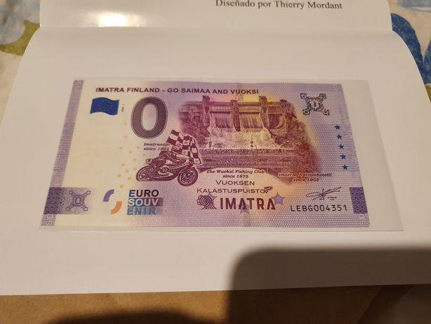 Imatra finland banknot z bledem
