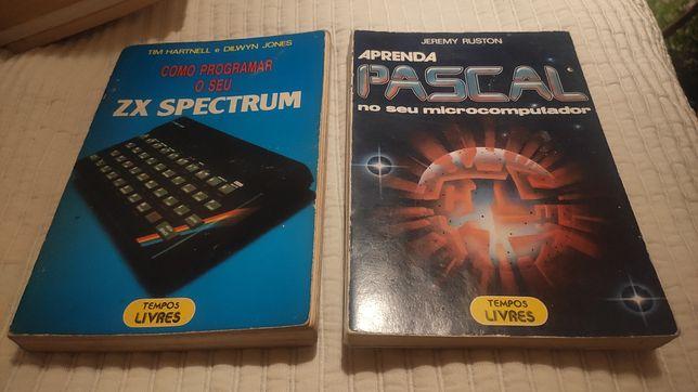 Livros antigos de informática - Spectrum Timex IBM PC Calculadoras