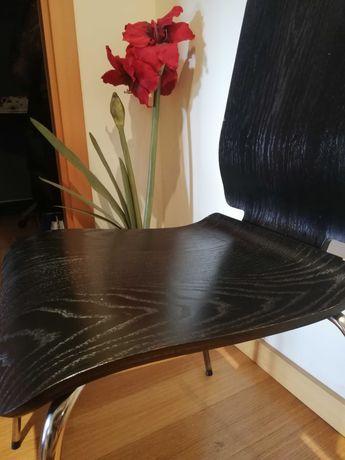 4 Cadeiras cozinha madeira e metal