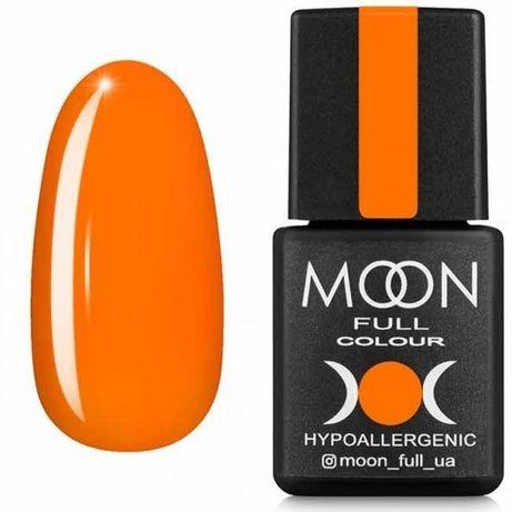 Гель-лак MOON FULL Neon color Gel polish №704 (оранжевый, неон), 8 мл