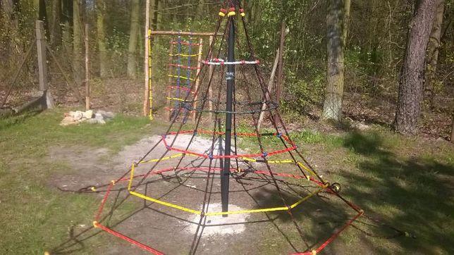 place zabaw liny do wspinaczki wspinaczkowe małpi gaj piramida lina 16