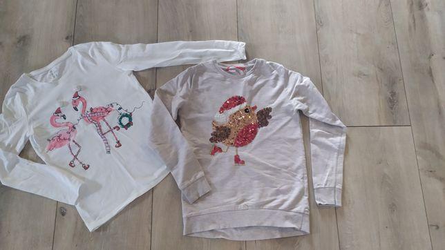 Zestaw zimowych bluzeczek motywy swiateczno-zimowe