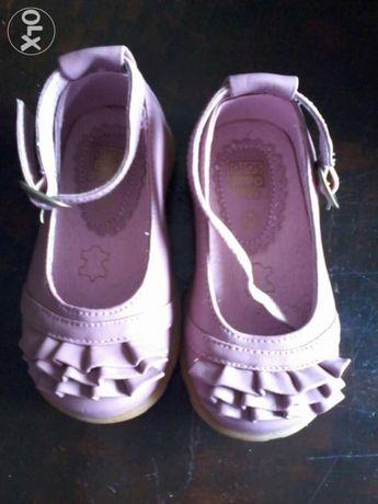 Sapatos de cerimónia, tipo sabrina, tam 20, em rosa salmão