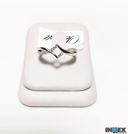 Nowy srebrny pierścionek 12435-g