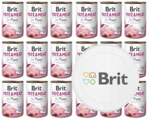 Brit Pate&Meat Puppy Szczenięta 16x400g karma mokra