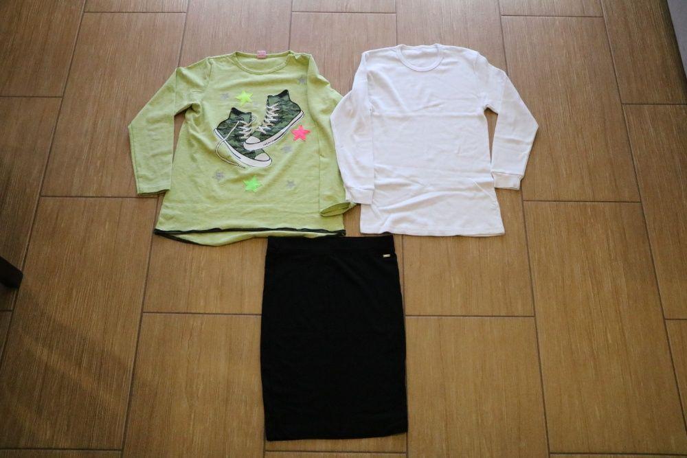 Zestaw bluzka, podkoszulka, spódniczka w rozmiarze 140 Leszno - image 1