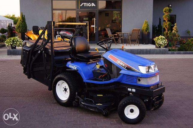 Kosiarka traktorek ISEKI SXG 22 diesel, górny wysyp kosza