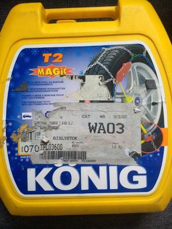 Łańcuchy śniegowe Konig Magic T2 070 Nowe pancerne samonapinacz