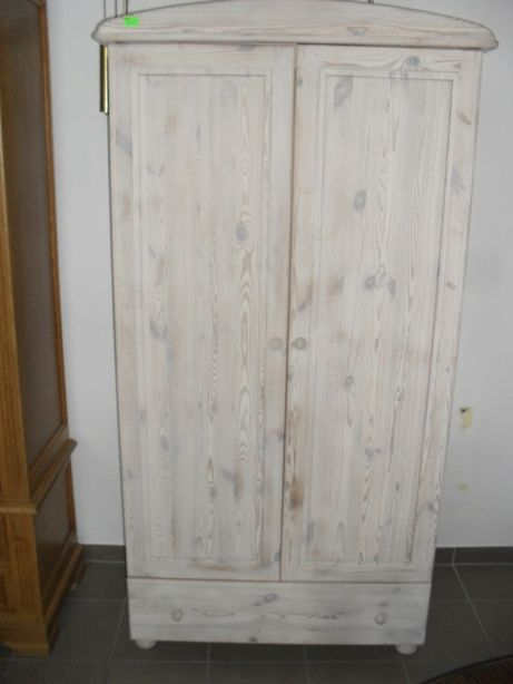 Szafa drewniana biała piaskowana 98 cm