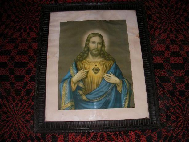 obraz stary Najświętsze serce Jezusa stary obraz