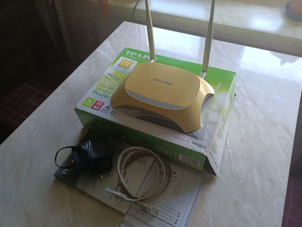 Router TP LINK MR 3420, LTE 3G/4G.