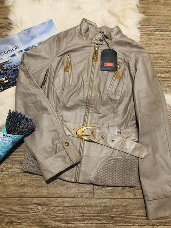 Кожаная куртка косуха из натуральной кожи италия
