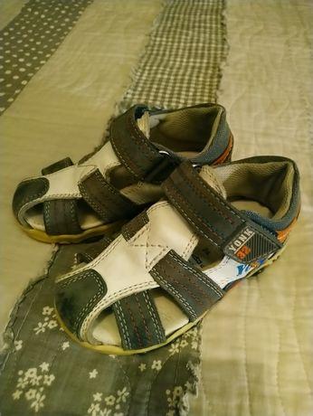 Sandałki chlopiec 24 skórzane