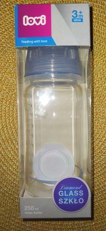 Lovi butelka diamond glass baby shower 3+, 250ml