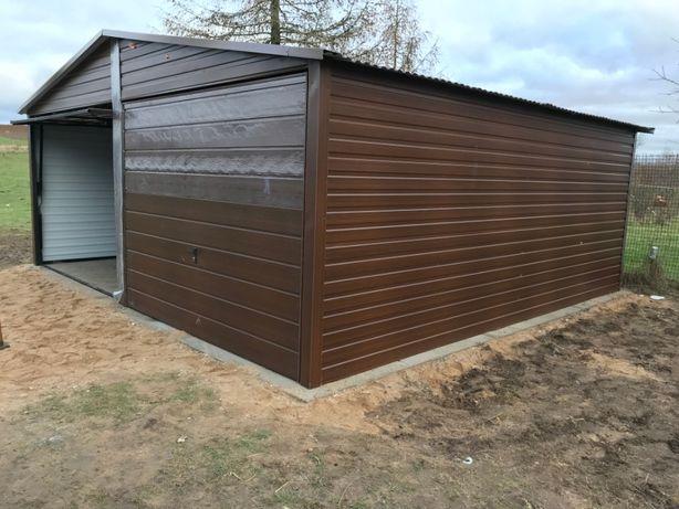 6x6 garaż blaszany drewnopodobny do wyboru