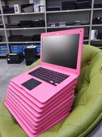 Гламурный розовый ноутбук для школы учебы ютуба Гугл Мита тонкий слим