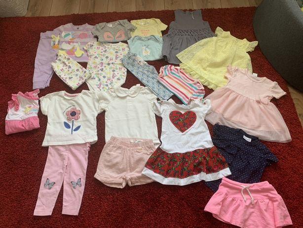 Pilnie paka ubran lato dla dziewczynki r. 80 Cartes, H&M, Coccodrillo