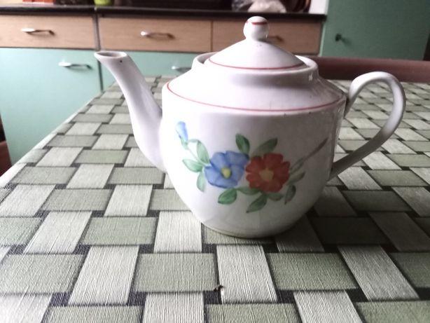 PRL imbryk czajniczek do esencji Lubiana porcelana hand  painted