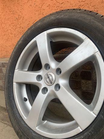 Продам 4 титани Enzo R16 з резиною Goodyear volkswagen Skoda Audi Seat