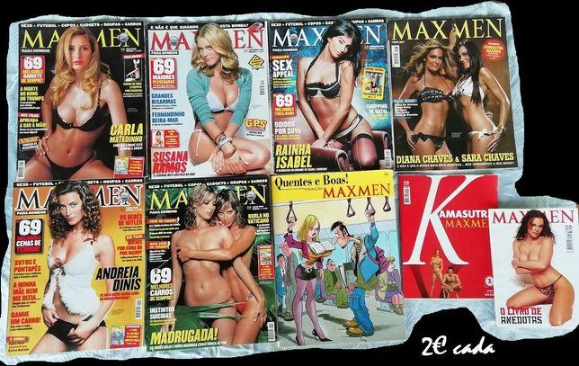 Revistas maxmen, cartoons e revistas bgamer