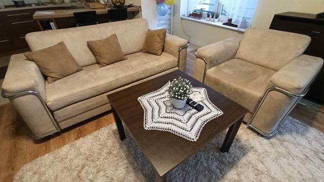 Sofa rozkładana 2 osobowa + fotel