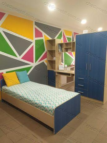Комната Стенка для ребенка: Кровать шкаф стол пенал полка СИМБА