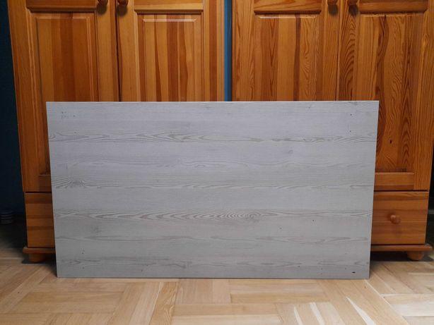Blat do biurka 125 x 70 cm, biała sosna