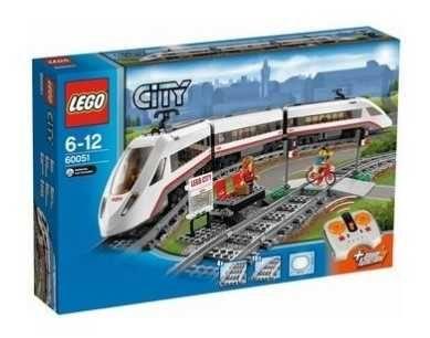 LEGO City Скоростной пассажирский поезд с дополнит дорогой!Оригинал БУ