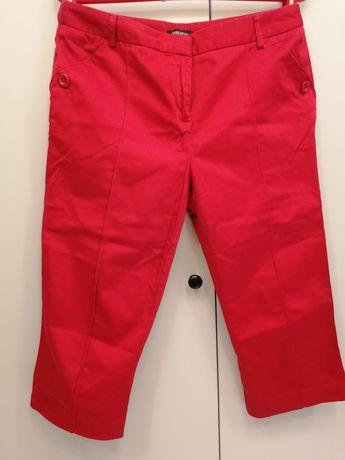 Spodnie 3/4 czerwone na kant