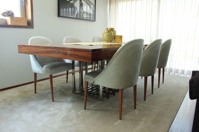 Mesa de sala de jantar extensível Pau Ferro