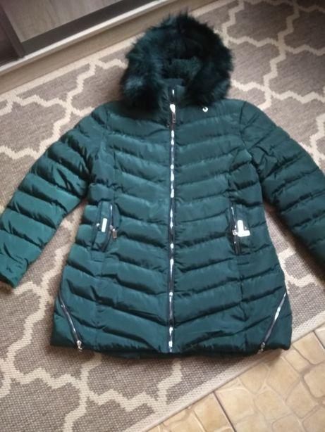 Nowa zimowa ciemnozielona kurtka