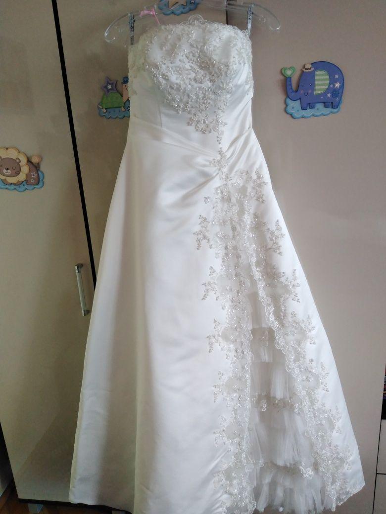 Suknia ślubna, Dreamon, rozmiar regulowany 38-40,komplet.