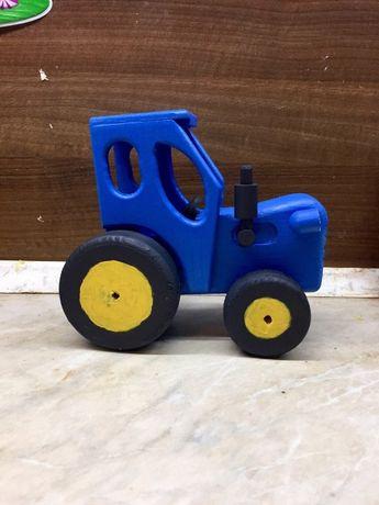 Синий трактор как в мультике (деревянный)