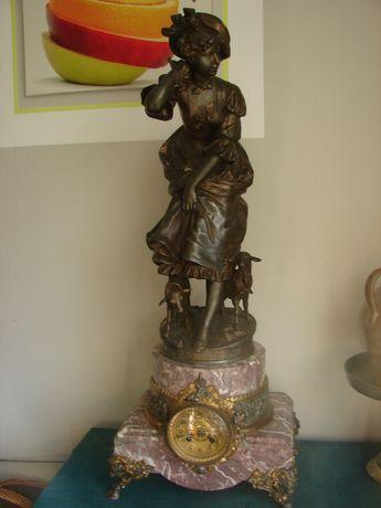 Przepiękny XIX wieczny francuski segar kominkowy sygnowany Henry Weiss
