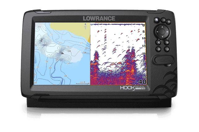 Sonda Gps Lowrance Hook Reveal 9″ com Transdutor 50/200 HDI ROW