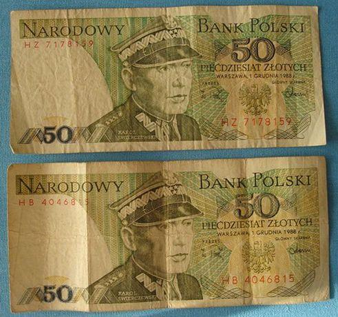 50 złotych Karol Świerczewski 1988r seria HZ i HB