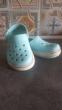 Błękitne Crocs crocband rozmiar J2, 33/34