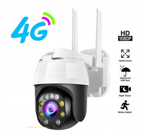kamera 4 g gsm lte obrotowa monitoring domu