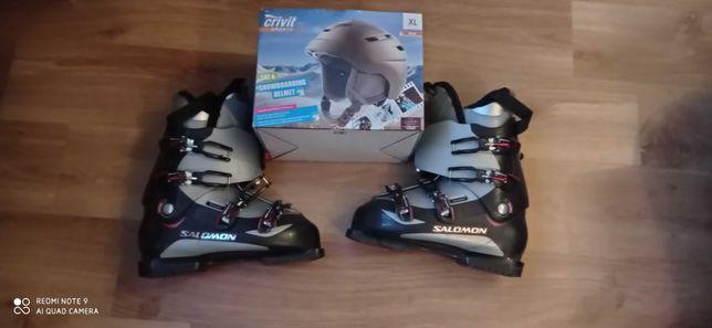 Do sprzedania buty narciarskie oraz kask