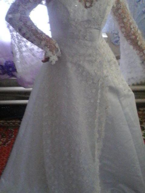 Свадебное платье 46 размер Славянск - изображение 1