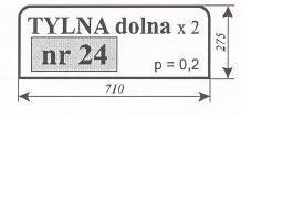 Szyby tylna dolna Ursus 912 C-385 C385 C 385 ACX165