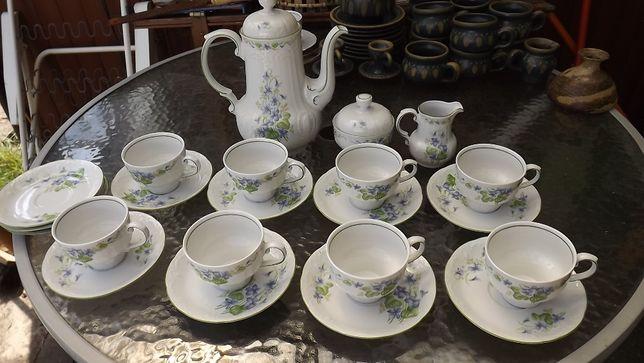porcelana, serwis, kieliszki, filiżanki, talerzyki