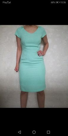 Sukienka Cudowna Midi Miętowa Pastel Bloggerska  Rozmiar S