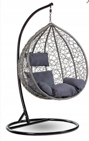 Fotel wiszący bujany ogrodowy kokon