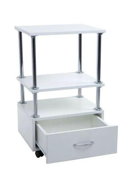 Тележка косметологическая №2 (этажерка) Парикмахерский стол на колесик