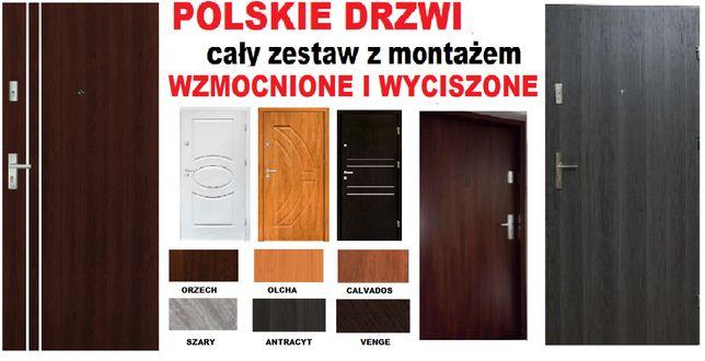 Drzwi wejściowe ZEWNĘTRZNE-wewnętrzne z montażem do mieszkania w bloku